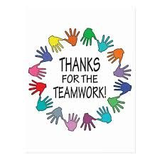 Thanks for the Teamwork with a circle of hands in bright colors for a recognition and appreciation message from management to employee, teacher to students, or coach to team. Team Quotes Teamwork, Inspirational Teamwork Quotes, Leader Quotes, Positive Quotes, Motivational Sayings, Employee Appreciation Quotes, Appreciation Message, Teacher Appreciation, Bill Gates