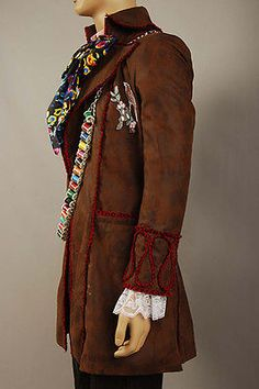 Johnny Depp as Mad Hatter Outfit Alice In Wonderland Jacket Pants Tie Costume