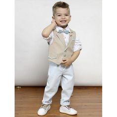 Βαπτιστικό κουστουμάκι Mi Chiamo βαμβακερό 100% με παντελόνι, τιράντες, πουκάμισο, γιλέκο, παπιγιόν και καπελάκι, Κουστουμάκι βάπτισης οικονομικό, Επώνυμα βαπτιστικά ρούχα για αγόρι τιμές eshop