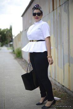 Модные образы от блоггеров plus-size