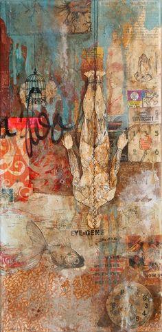 "Saatchi Online Artist: Oliver Peterson; other 2011 Collage ""The Hanged Man"""