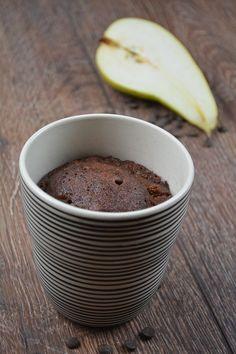Birnen Tassenkuchen mit Schoko 3