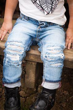 The Bees Knees-Unisex Skinny jeans boys girls by CrownedLaurelkids