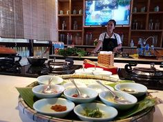 A private cooking class with just the two of us in our own little A/C-ed room. Everybody has to do this on their next trip! Hoi An, Vietnam Travel, Cooking Classes, Two By Two, Table Settings, Room, Instagram, Bedroom