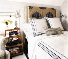 No commitment headboard update... Just drape throw blanket, quilt, coverlet, or tapestry over the existing