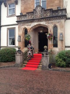 Entrance to Cameron house with the piper