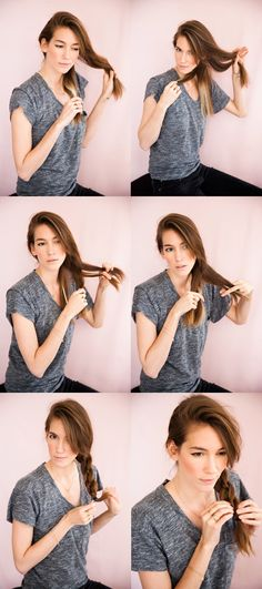 How to do the four-strand braid! I just did it in seconds! It's so easy with her instructions!