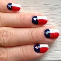 Texas Flag Nails by Aggies Do It Better