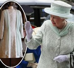 Looking mint! Queen shines in crystal-studded Angela Kelly dress