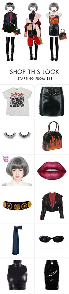 """""""doomed"""" by honjo ❤ liked on Polyvore featuring Cast of Vices, Just Cavalli, Anthony Vaccarello, Bisadora, Lime Crime, Chanel, Claude Montana, Tome, Gucci and Prada"""