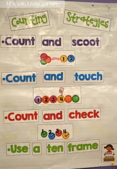 Strategies for teaching counting! In kindergarten, we need time to get that cardinality down.  We need a lot of practice!