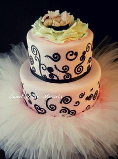 Tutu Baby Shower Cake