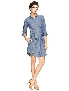 The Shirtdress is big for spring - but pair it with flats for your pictures.  #SeniorStyle