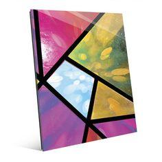 Click Wall Art 'Kaleidoscopic Bokeh' Graphic Art on Plaque Size: