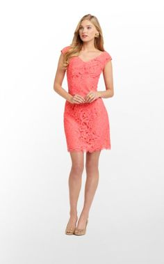 Rosaline Dress in Ginger Orange About Face Lace $278 (w/o 4/14/13) #lillypulitzer #fashion #style