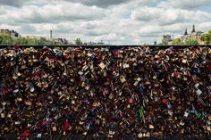 Paris - Love locks by Hombre-cz on Creative Market