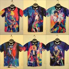 35355ccb Fashion T SHIRT Michael Jackson memorial women men short sleeve full print