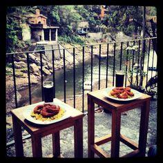 Almorzando en Valle de Bravo, Edomex