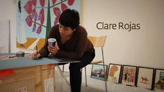 Clare Rojas, We They We They - Installation & Performance by Ikon Gallery. Clare Rojas worked intensively during the installation of her show at Ikon Gallery. She made new paintings whilst over painting and cutting up others to fit the architecture of the gallery. On the opening night, Clare performed songs within the alt-country idiom as her alter-ego, Peggy Honeywell to a packed gallery audience.