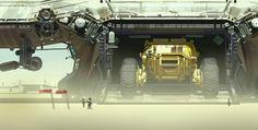 Shipbreakers Concept | Hardware # illustration sci-fi vehicule desert