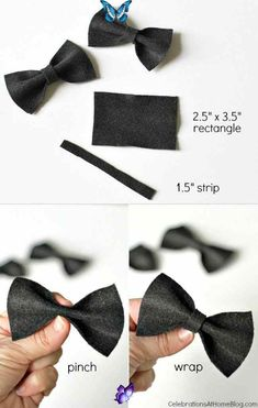 trwich DIY Mini Bow Ties to Dress Up the Party - Celebrations at Home,  #baby #Bow #Celebrations #DIY #Dress #Home #Mini #Party #Ties<br> Dress Up, Bows, Celebrities, Mini, Party, Celebs, Costume, Bowties, Bow
