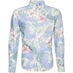 Hemd mit floralem Print - Cooles Hemd in Hellblau von Franklin & Marshall. Im freshen Design mit floraler Musterung und Inside-Out Look begeistert dieses Hemd.