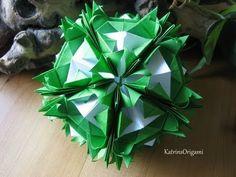 Origami ✿⊱╮ Florentia ✿⊱╮ Kusudama - YouTube