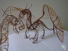 Dragon of wire by Holymain.deviantart.com on @deviantART