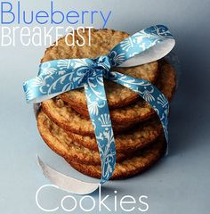 Blueberry breakfast cookies.  The recipe uses a 7oz box of Jiffy blueberry muffin mix.