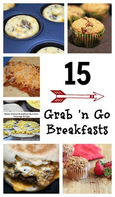 15 Grab n Go Breakfast Ideas - If you're looking to simplify your life, this is key! These breakfast options will feed your family, keep you within your budget, make your mornings tolerable & keep the peace! Grab And Go Breakfast, Breakfast Options, Quick And Easy Breakfast, Breakfast Dishes, Breakfast Time, Breakfast Recipes, Breakfast Specials, School Breakfast, Breakfast Muffins