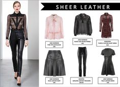 Glossy leather and sheer fabric never looked so good together! This AW15 look elegant and edgy by mixing these two fabrics!