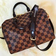 Then Handbag! Louis Vuitton Speedy Bandouliere 25 in Damier Ebene Louis  Vuitton Damier 538ad70f34