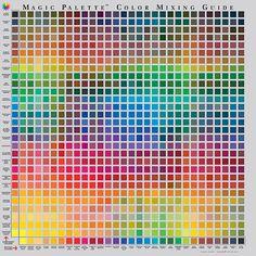 Magic Palette Color Mixing Guide - gids voor het mengen van kleuren - Schleiper