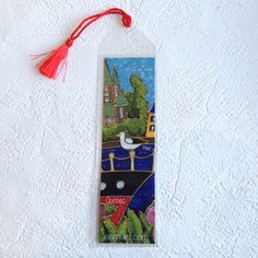 Signet • Bateau de croisière - reproductions des toiles d'isabelle Malo Isabelle, Drop Earrings, Book Markers, Canvases, Paper Mill, Artist, Drop Earring