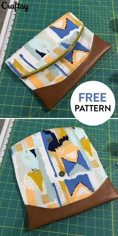 This adorable clutch purse is the perfect beginner sewing project. Get the free pattern at Craftsy!