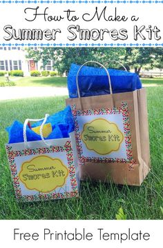 Make a Summer S'mores Kit! - http://innerchildfun.com/2014/06/make-summer-smores-kit.html #kids