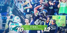 The final score for the Seahawks vs. Dolphins game.