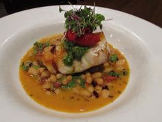 Roasted Cod With White Beans, Tomato, And Truffle Oil Recipe ...