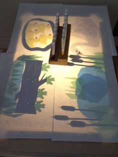 A variety of papers and tissues for effects on the light table - from Early Discoveries Inc. Childcare