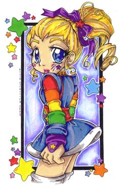 anime-ish looking Rainbow Brite Love Rainbow, Rainbow Colors, Anime Fantasy, Fantasy Art, Cartoon Drawings, Cartoon Art, 80s Cartoon Shows, 1980 Cartoons, Jem And The Holograms