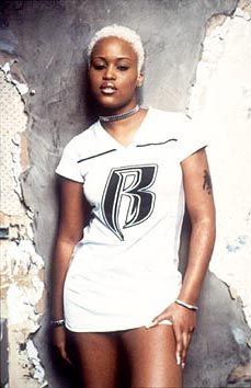 The 1st lady of Ruff riders eve jihad jeffers. A.K.A  pitbull  n a skirt.