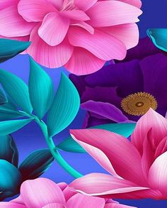 flowers and petals pattern