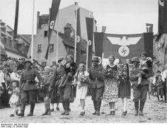 A német hadsereg bevonulása Aschba, WW II, The German army marched Asch / Die deutsche Armee marschierte Asch