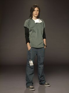 Katherine Moennig in scrubs. This one is for Debbie!
