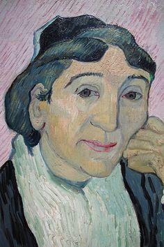 Madame Ginoux - Période où Gauguin et Van Gogh vécurent ensemble à Arles, ils se servirent des mêmes modèles. Pendant qu'il fut interné à Saint-Rémy, il fit quatre autres portraits de Madame Ginoux.