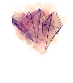 geometria, abstrato, arte, dreams, aquarela, watercolor