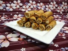 Lumpia - Filipino egg rolls....