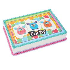 Furby Edible Cake Topper Birthday Party Supplies by BigCatCrafts