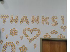 Costco displaying their gratitude to customer donations on their warehouse wall.
