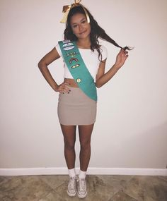 College costume Halloween girl Girl Scout diy